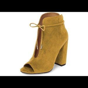 FSJ Women Fashion Peep Toe Ankle Booties